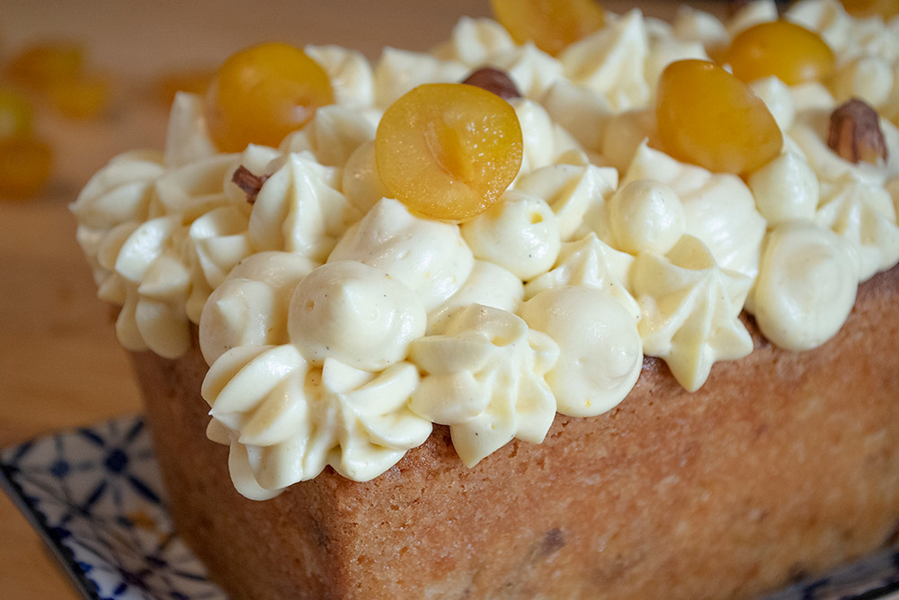 Délicieux cake noisettes mirabelles