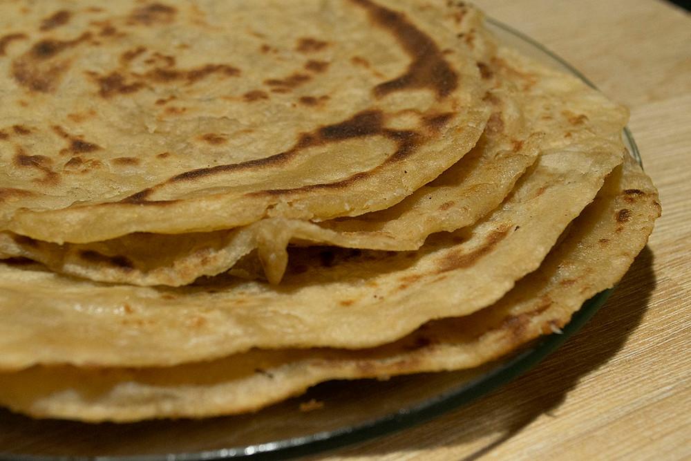 Parathas prêts à déguster