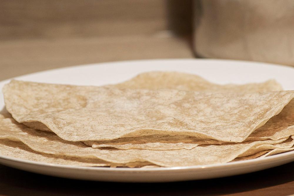 Tortillas gros plan