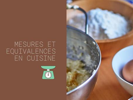 Mesures et équivalences en cuisine