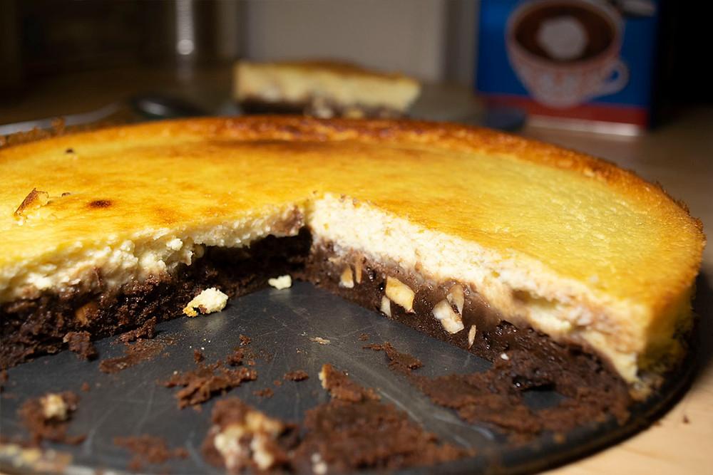 cheesecake brownie coupé