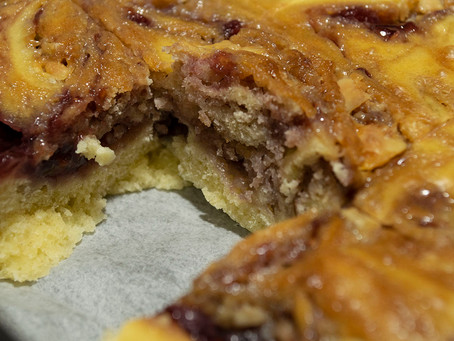 Traybake (ou pancake cake) Beurre de Cacahuètes Confiture