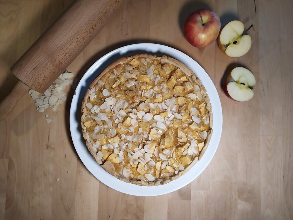 Tarte aux pommes automnale et amandes
