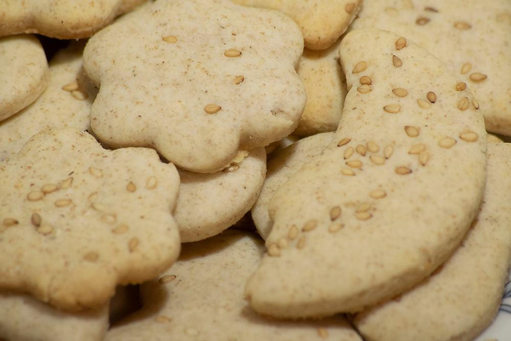 Gros plan biscuits au sésame