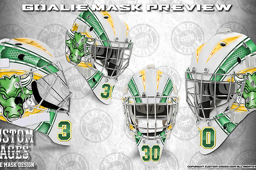 BULLS EYE-Goalie Mask Vinyl Decal Set