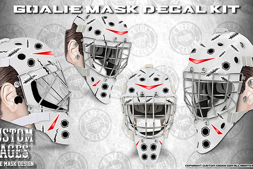 OLD SCHOOL-Goalie Mask Vinyl Decal Set