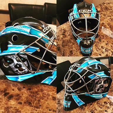 Custom Goalie Mask Design And Vinyl Decal Kits