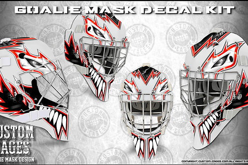 THE KAT #2-Goalie Mask Vinyl Decal Set