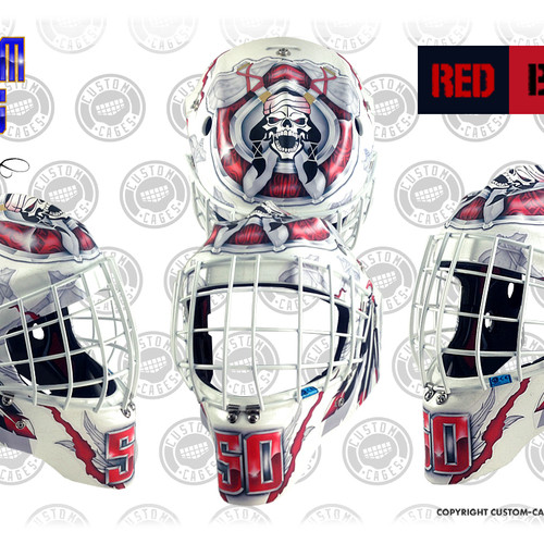 Goalie Mask Vinyl Wrap Template Kortnee Kate Photography