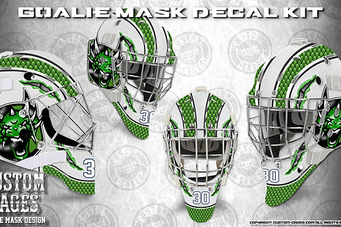 DRAGON HEAD -Goalie Mask Vinyl Decal