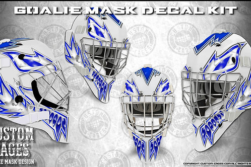 THE KAT-Goalie Mask Vinyl Decal Set