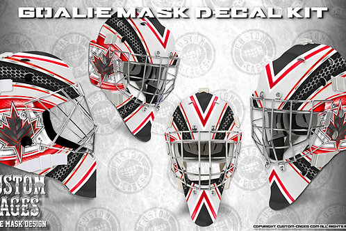 CANADAGOLD #2-Goalie Mask Vinyl Decal Set