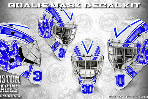 WE THE NORTH #2-Goalie Mask Vinyl Decal Set