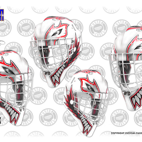 Custom goalie mask design and vinyl decal kits the kat 2 goalie mask vinyl decal set maxwellsz