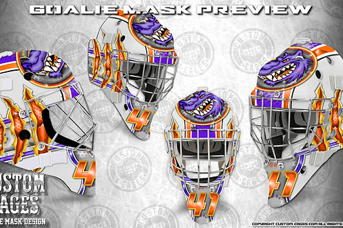 PREDATORINC-Goalie Mask Vinyl Decal Set