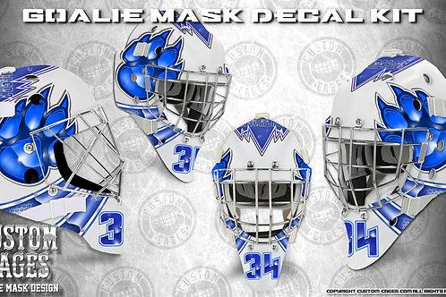 PAW PRINT-Goalie Mask Vinyl Decal Set