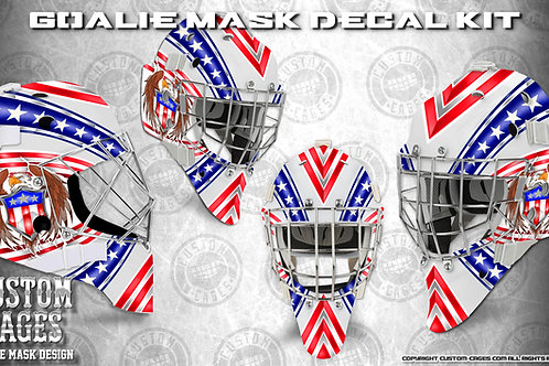 STARS & STRIPES -Goalie Mask Vinyl Decal Set