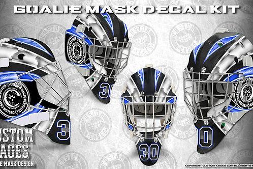 BASIC-Goalie Mask Vinyl Decal Set (white/blue)