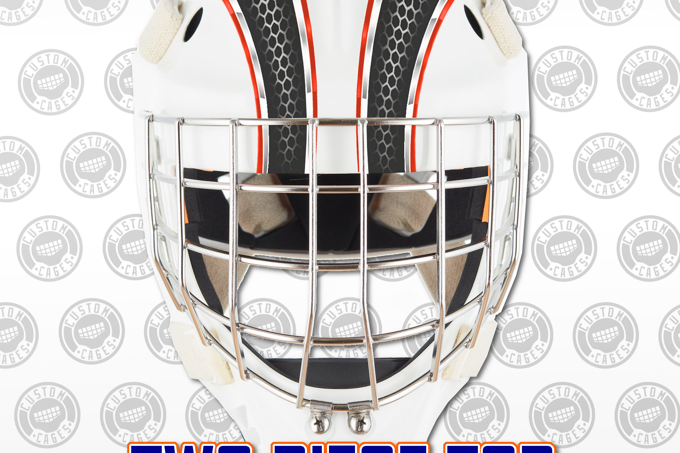 Our goalie mask decals are printed onto a lightweight and flexible vinyl they are waterproof and durable perfect for any exposure to ice or puck ricochet