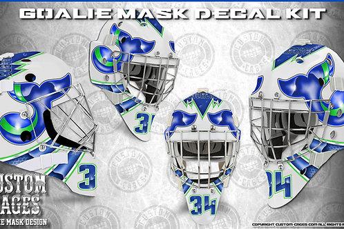 WHALERS-Goalie Mask Vinyl Decal Set