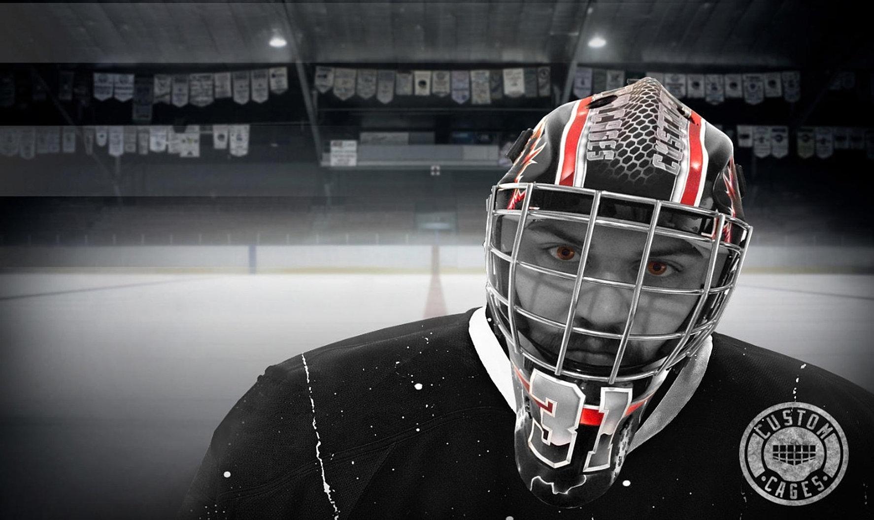 Goalie helmet vinyl stickers