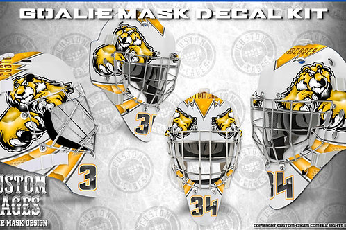 BEASTMODE #2-Goalie Mask Vinyl Decal Set