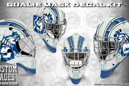 VAN CITY #2 -Goalie Mask Vinyl Decal