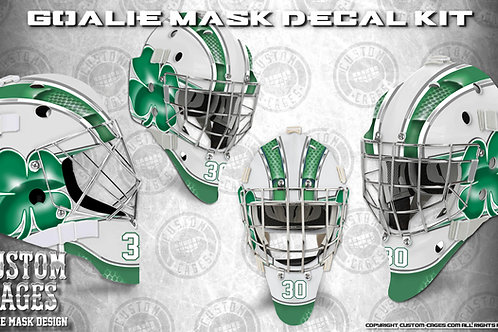 FIGHTING IRISH #2 -Goalie Mask Vinyl Decal