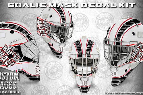 BRICKWALL #3 -Goalie Mask Vinyl Decal