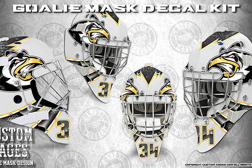 THE PENS-Goalie Mask Vinyl Decal Set