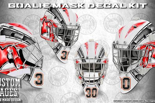 DEVIL-Goalie Mask Vinyl Decal Set