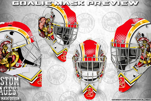 SPARTAN-Goalie Mask Vinyl Decal Set