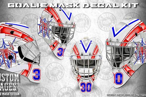 SPIDEY-Goalie Mask Vinyl Decal Set