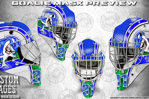 VANCITY-Goalie Mask Vinyl Decal Set