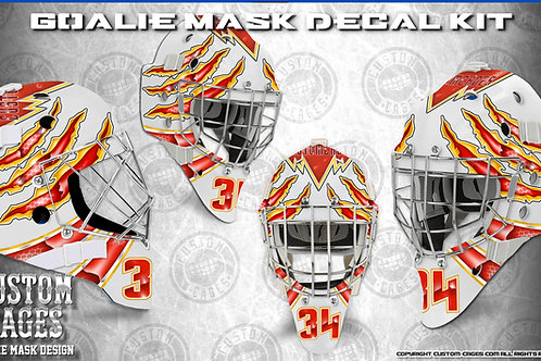 ANIMAL INSTINCT#2-Goalie Mask Vinyl Decal Set