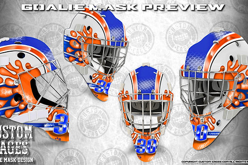 OILKING-Goalie Mask Vinyl Decal Set