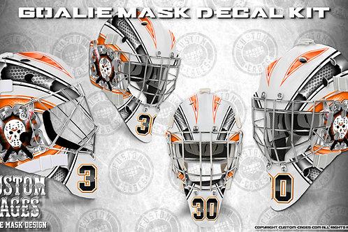 BRICK WALL #2-Goalie Mask Vinyl Decal Set