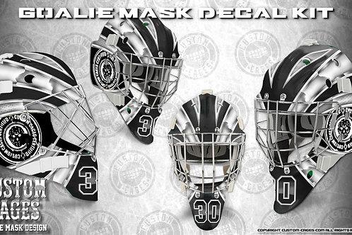 BASIC-Goalie Mask Vinyl Decal Set (white/grey)