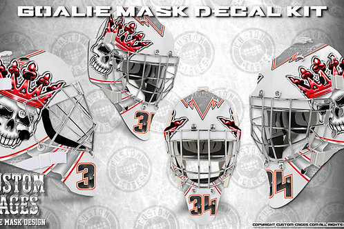 SKULL CANDY-Goalie Mask Vinyl Decal Set