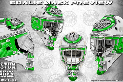 FIGHTINGIRISH-Goalie Mask Vinyl Decal Set