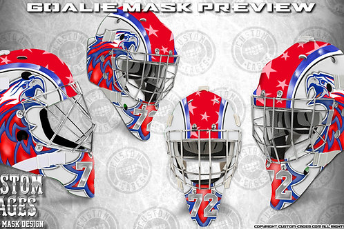 THEPATRIOT-Goalie Mask Vinyl Decal Set