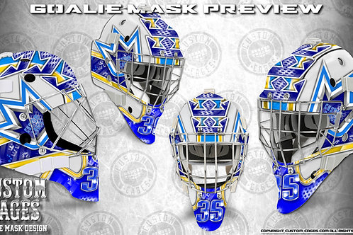 CROWNROYAL-Goalie Mask Vinyl Decal Set