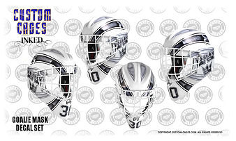 Custom Goalie Mask Design And Vinyl Decal Kits