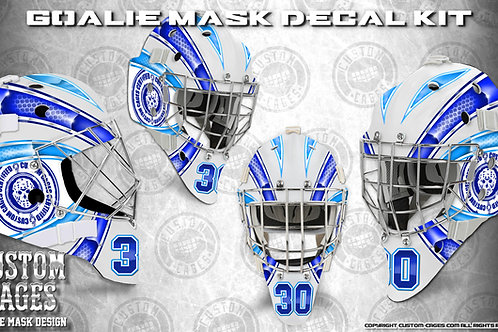 BASIC-Goalie Mask Vinyl Decal Set (blue/babyblue)