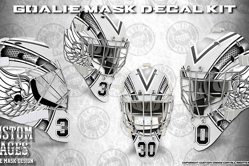 ANGEL EYES -Goalie Mask Vinyl Decal Set