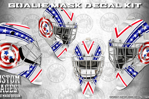 THE CAPTAIN-Goalie Mask Vinyl Decal Set