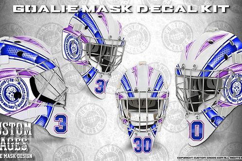 BASIC-Goalie Mask Vinyl Decal Set (blue/purple)