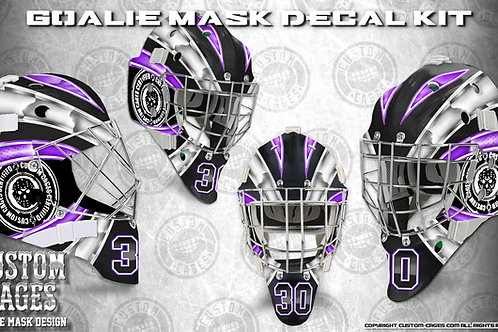 BASIC-Goalie Mask Vinyl Decal Set (white/purple)