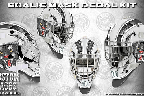 BLACK PANTHER -Goalie Mask Vinyl Decal