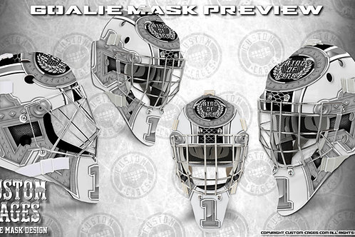 KINGOFKINGZ-Goalie Mask Vinyl Decal Set